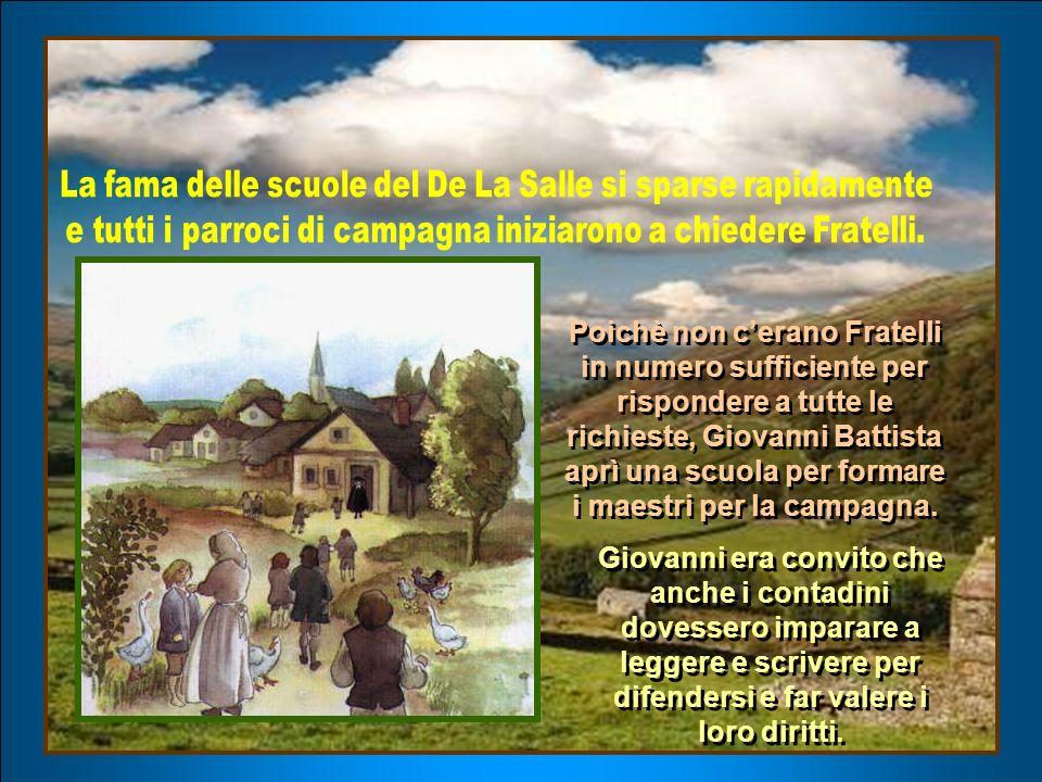 Il parroco di San Sulpice propose a Giovanni Battista di utilizzare i locali della scuola, la domenica pomeriggio, per formare i giovani lavoratori della sua parrocchia.