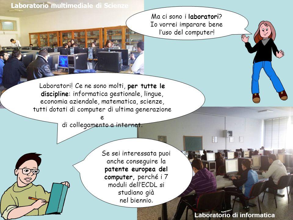 Ma ci sono i laboratori.Io vorrei imparare bene luso del computer.