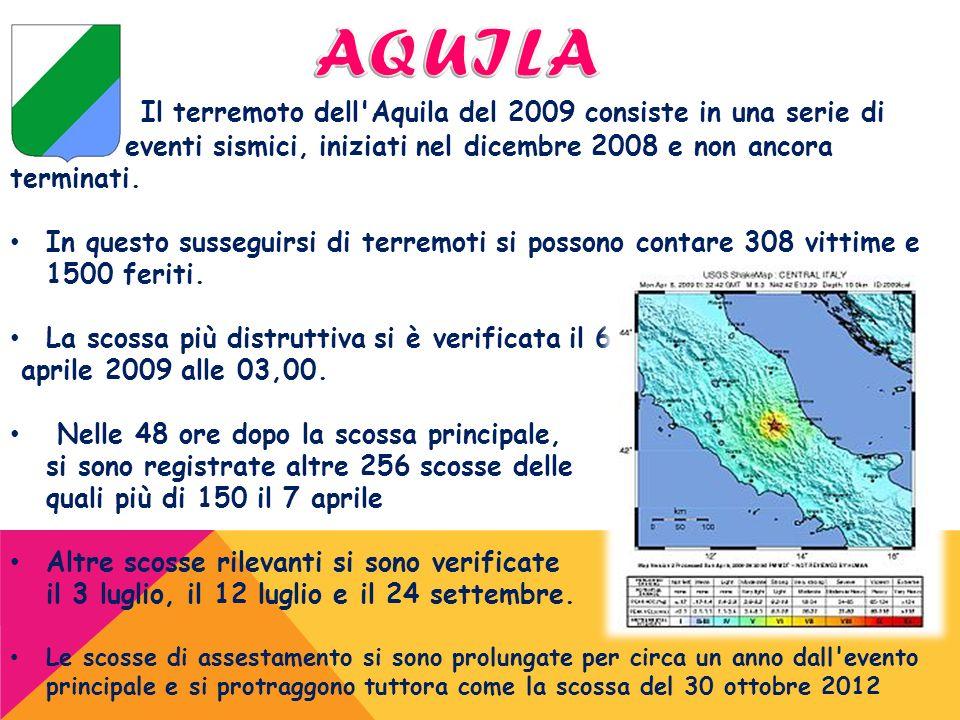 Il terremoto dell'Aquila del 2009 consiste in una serie di eventi sismici, iniziati nel dicembre 2008 e non ancora terminati. In questo susseguirsi di