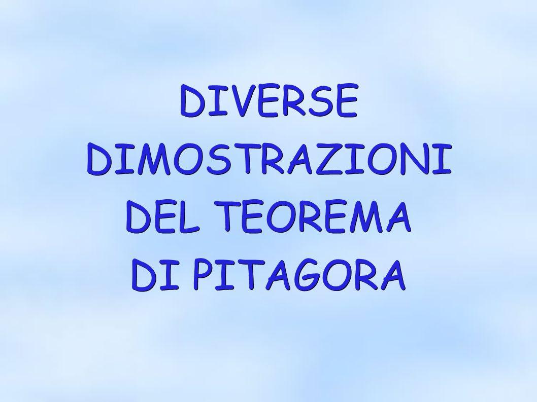 DIVERSEDIMOSTRAZIONI DEL TEOREMA DI PITAGORA