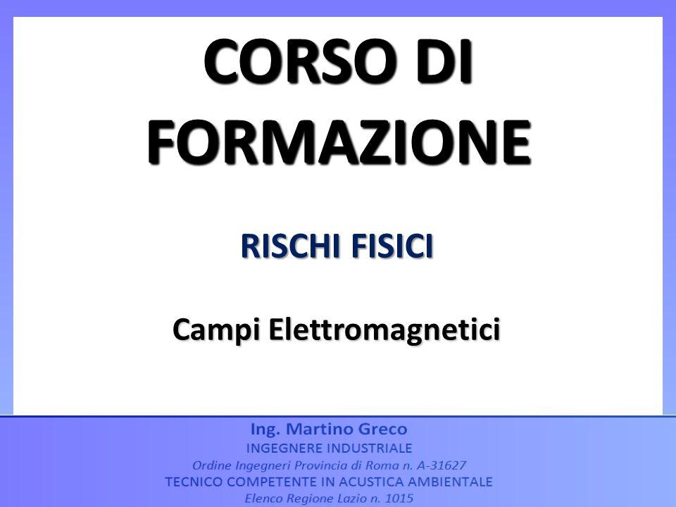 RISCHI FISICI Campi Elettromagnetici CORSO DI FORMAZIONE