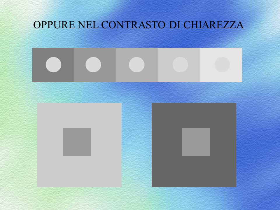 OPPURE NEL CONTRASTO DI CHIAREZZA