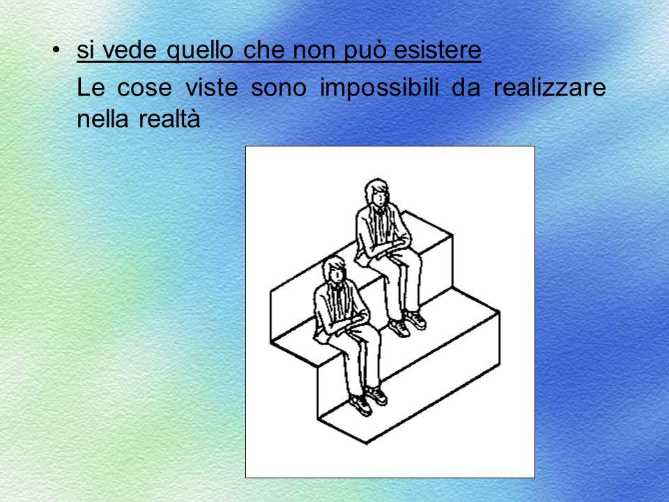 si vede quello che non può esistere Le cose viste sono impossibili da realizzare nella realtà