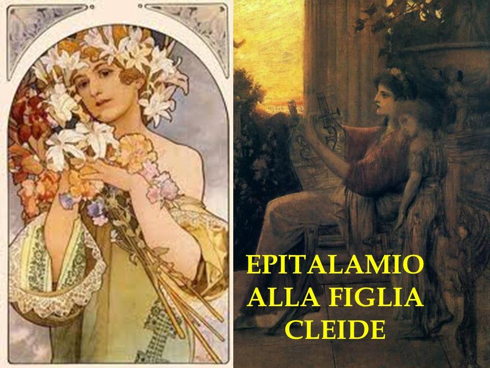 EPITALAMIO ALLA FIGLIA CLEIDE