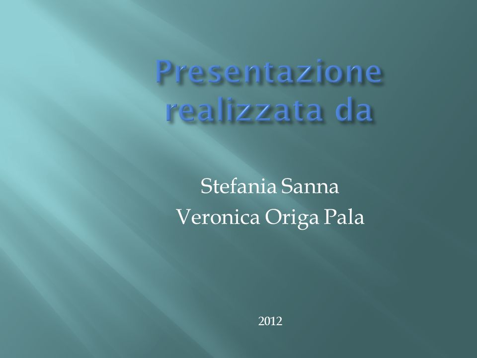Stefania Sanna Veronica Origa Pala 2012