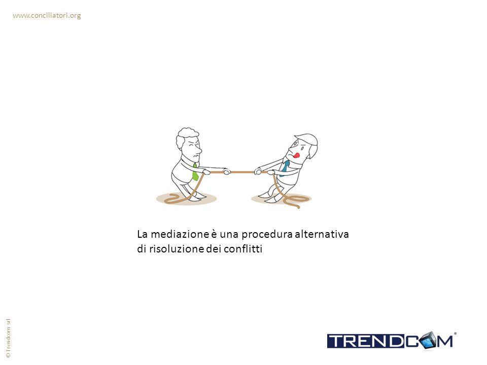 La mediazione è una procedura alternativa di risoluzione dei conflitti www.conciliatori.org © Trendcom srl