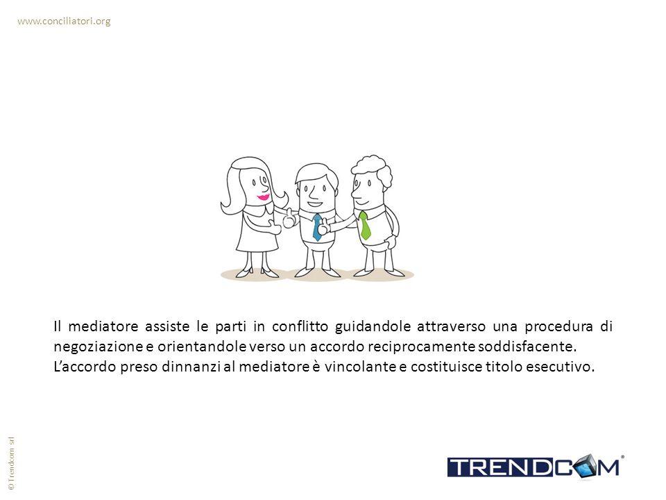www.conciliatori.org Il mediatore assiste le parti in conflitto guidandole attraverso una procedura di negoziazione e orientandole verso un accordo re