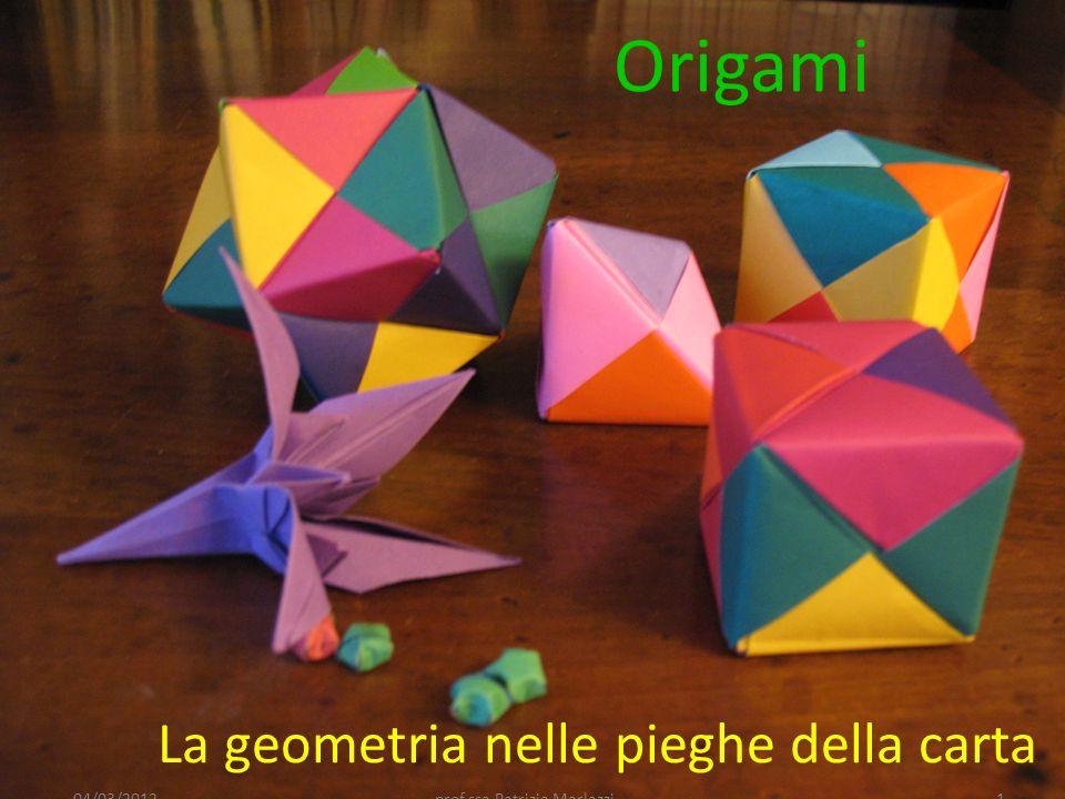 Chiudi seguendo le pieghe: è una piegatura di base per molti origami 04/03/201212prof.ssa Patrizia Marlazzi