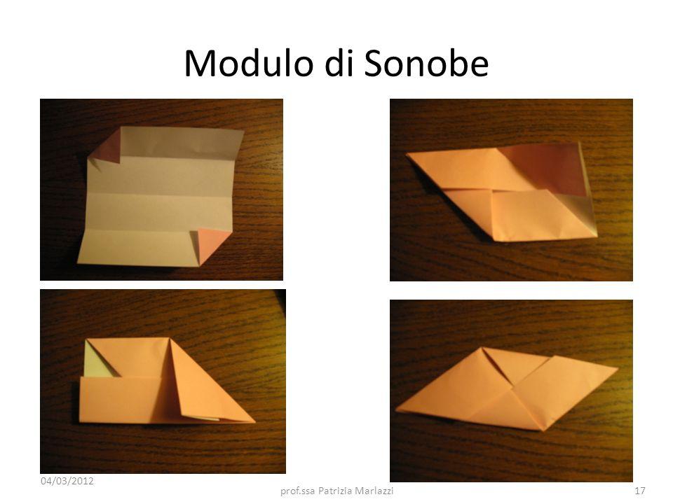 Modulo di Sonobe 04/03/2012 17prof.ssa Patrizia Marlazzi