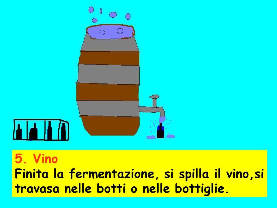 Il prodotto fermenta, si formano le bollicine, le bucce galleggiano e lo zucchero si trasforma lentamente in alcool. Il mosto deve essere spesso mesco