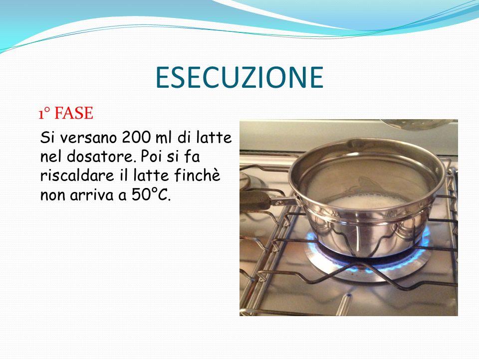 2° FASE Versiamo nel latte 5 cucchiaini di aceto, e poi si cola con il colino.