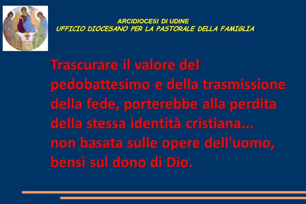 ARCIDIOCESI DI UDINE UFFICIO DIOCESANO PER LA PASTORALE DELLA FAMIGLIA L uomo è destinato alla vita nello Spirito.