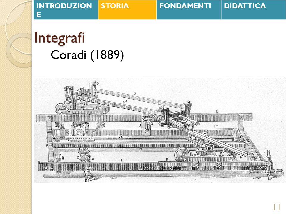 Integrafi 11 Coradi (1889) INTRODUZION E STORIAFONDAMENTIDIDATTICA