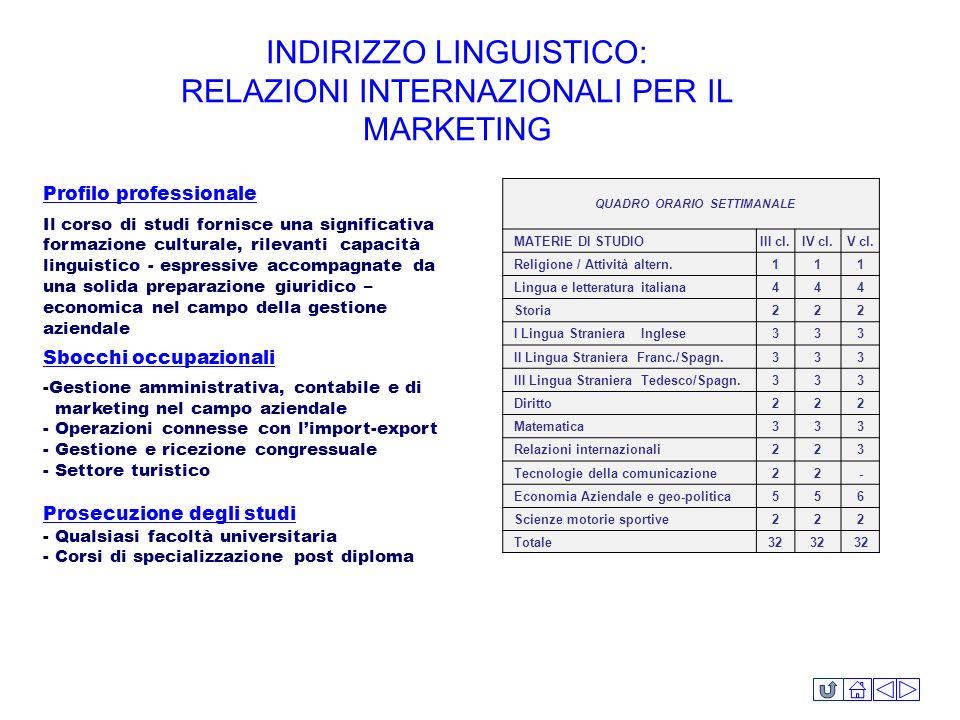 Profilo professionale Il corso di studi fornisce una significativa formazione culturale, rilevanti capacità linguistico - espressive accompagnate da u