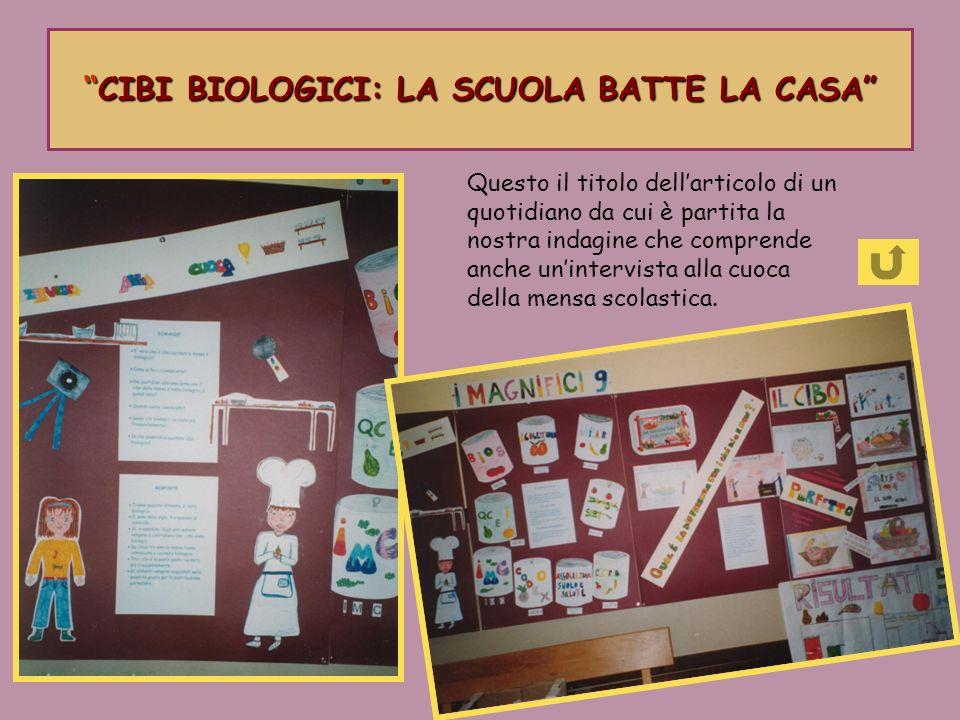 CIBI BIOLOGICI: LA SCUOLA BATTE LA CASACIBI BIOLOGICI: LA SCUOLA BATTE LA CASA Questo il titolo dellarticolo di un quotidiano da cui è partita la nost