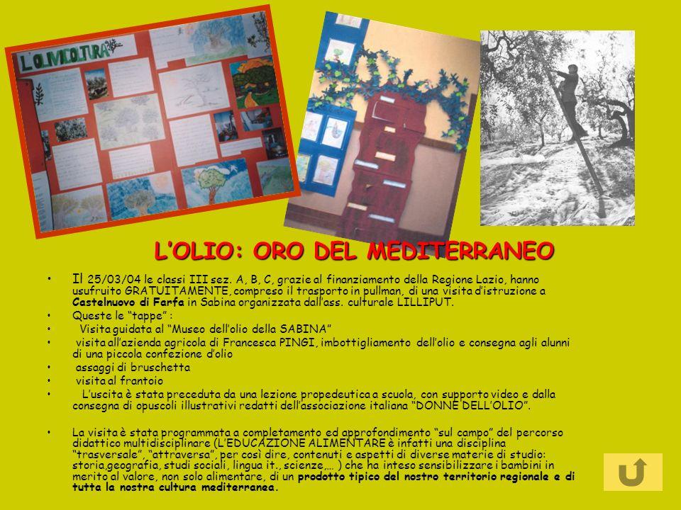 Il 25/03/04 le classi III sez. A, B, C, grazie al finanziamento della Regione Lazio, hanno usufruito GRATUITAMENTE, compreso il trasporto in pullman,
