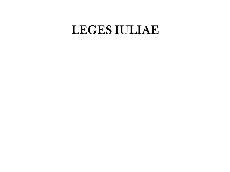 LEGES IULIAE