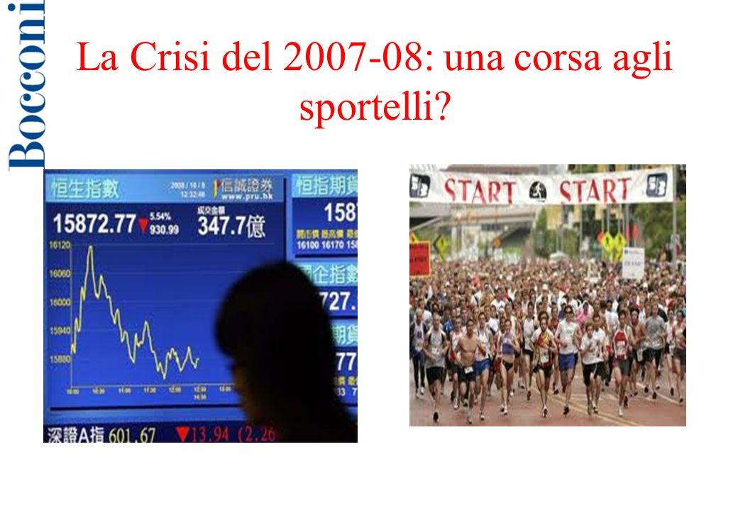 La Crisi del 2007-08: una corsa agli sportelli?