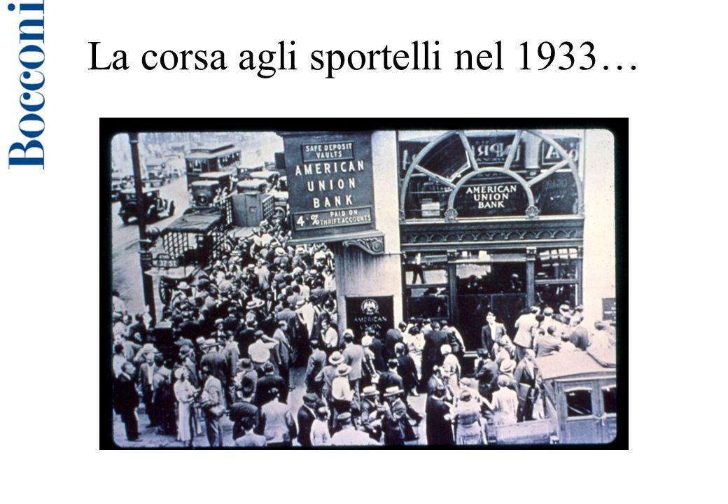 La corsa agli sportelli nel 1933…