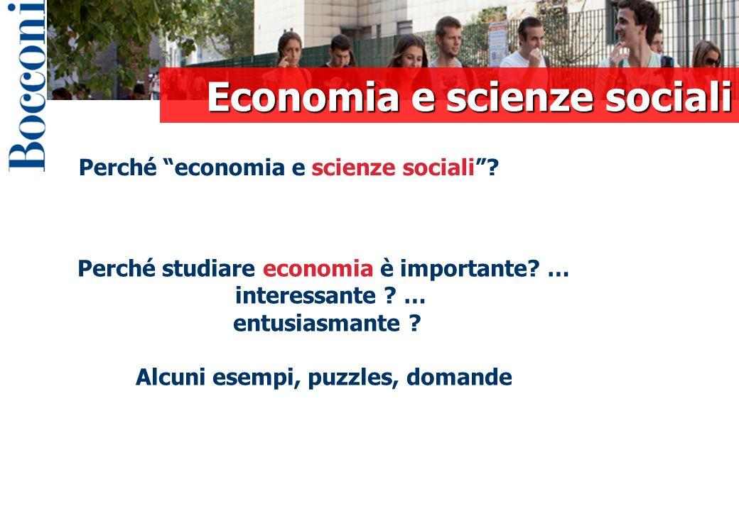 Perché economia e scienze sociali.Perché studiare economia è importante.