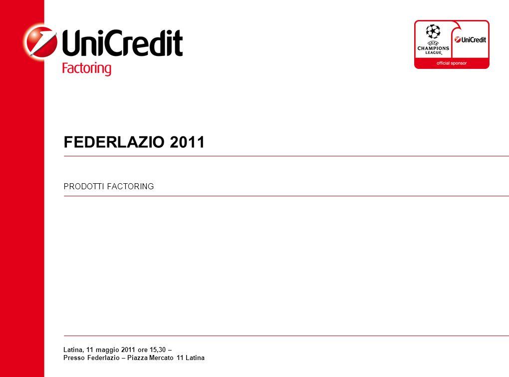 FEDERLAZIO 2011 PRODOTTI FACTORING Latina, 11 maggio 2011 ore 15,30 – Presso Federlazio – Piazza Mercato 11 Latina