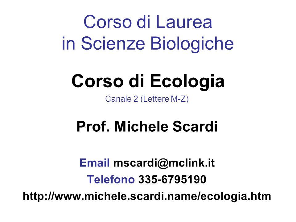 Università di Roma Tor Vergata Dipartimento di Biologia Laboratorio di Ecologia Sperimentale ed Acquacoltura
