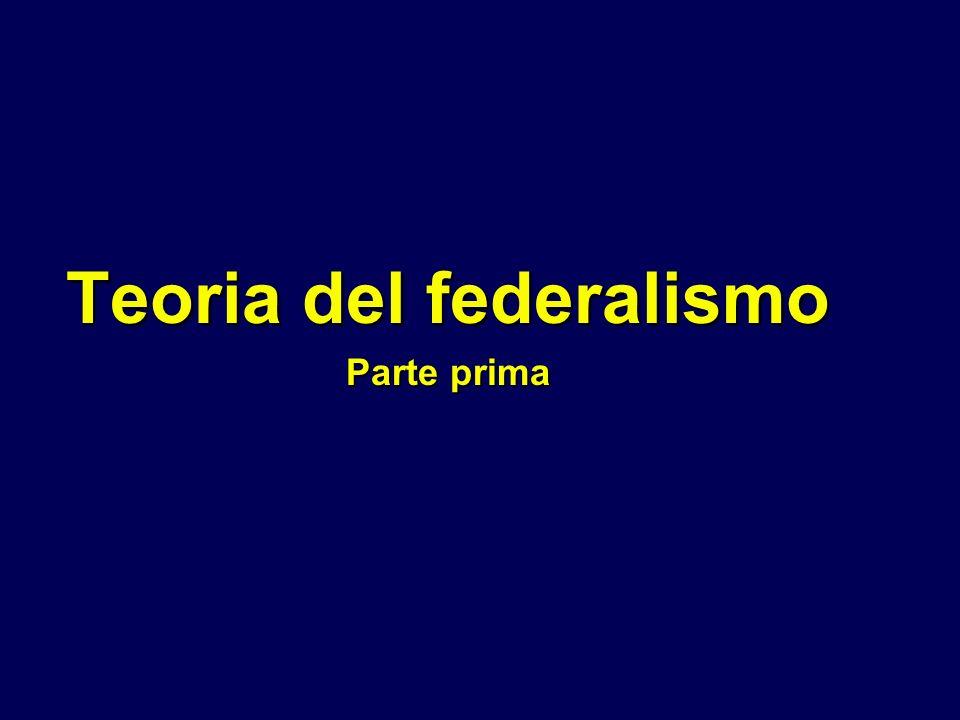 Teoria del federalismo Parte prima