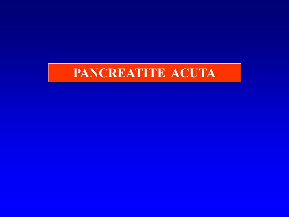 PATOGENESI DEL DOLORE 1.Distensione acuta del parenchima pancreatico 2.Irrritazione terminazioni nervose simpatiche intra- parenchimali e liberazione locale di sostanze algogene 3.