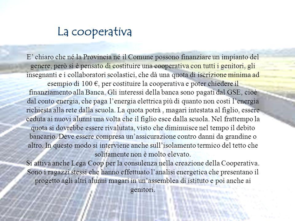 Page 11 La cooperativa E chiaro che né la Provincia né il Comune possono finanziare un impianto del genere, però si è pensato di costituire una cooper