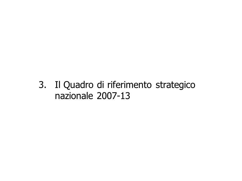 3.Il Quadro di riferimento strategico nazionale 2007-13
