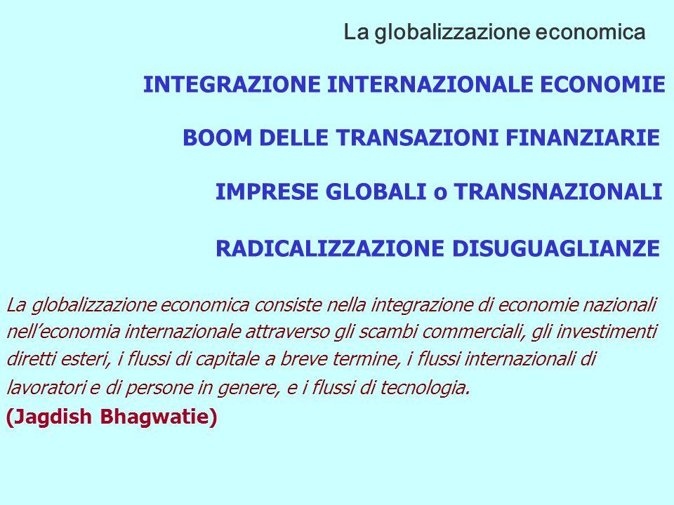 La retorica globalista evocava l immagine di un mercato privo di confini e usava tono apologetici.
