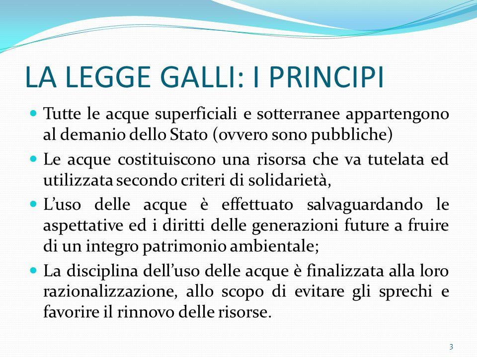 Prima e dopo la Legge Galli IERIOGGI Gli INVESTIMENTI erano PAGATI dalla FISCALITA GENERALE.