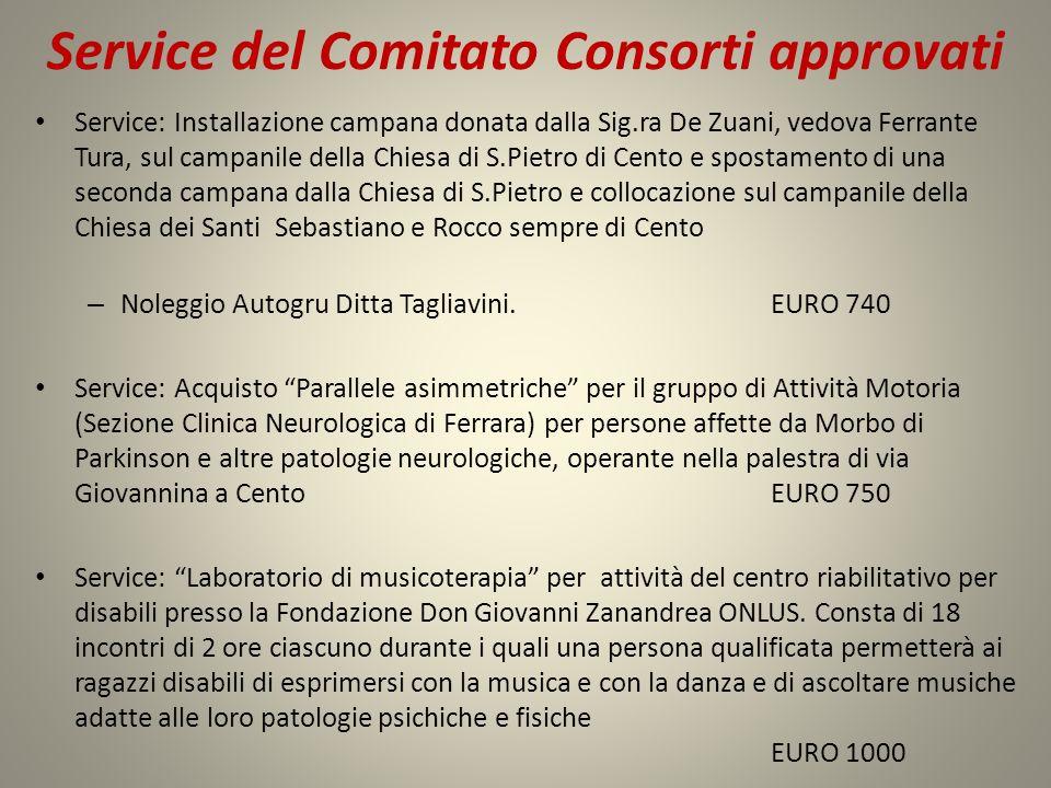 Service del Comitato Consorti approvati Service: Installazione campana donata dalla Sig.ra De Zuani, vedova Ferrante Tura, sul campanile della Chiesa
