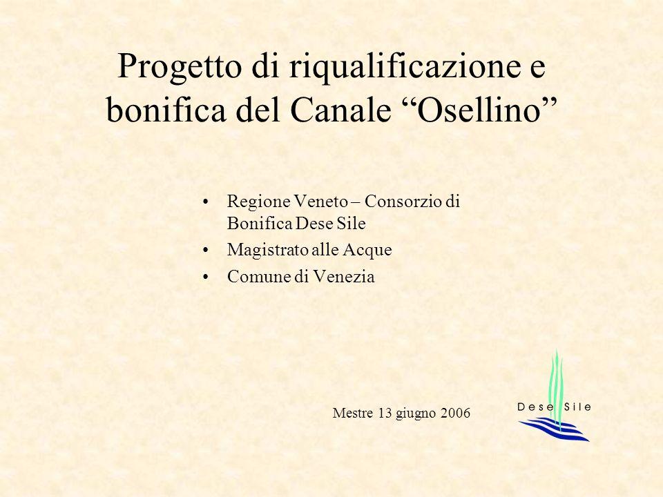Progetto di riqualificazione e bonifica del Canale Osellino Regione Veneto – Consorzio di Bonifica Dese Sile Magistrato alle Acque Comune di Venezia M