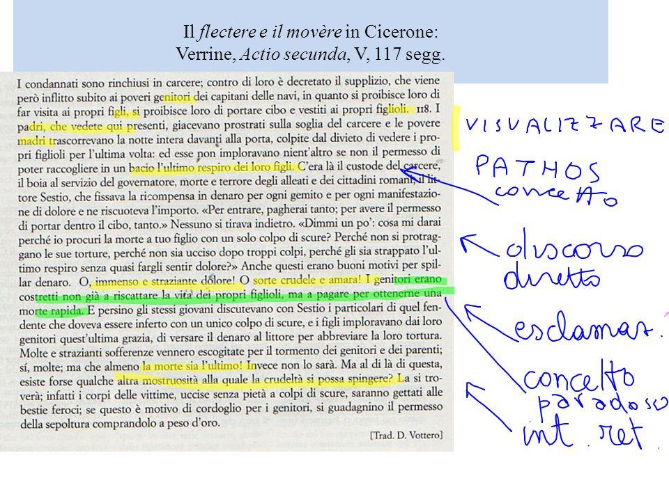 Il flectere e il movère in Cicerone: Verrine, Actio secunda, V, 117 segg.