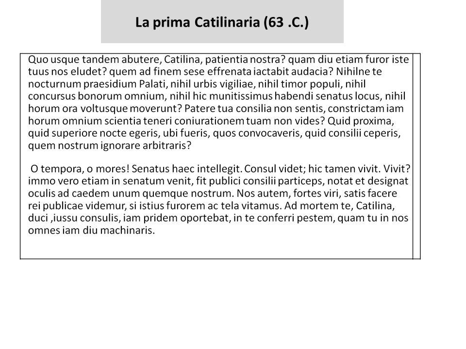 La prima Catilinaria (63.C.)