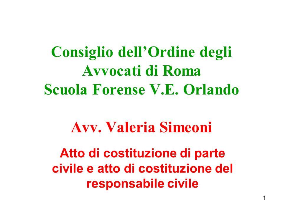 11 Consiglio dellOrdine degli Avvocati di Roma Scuola Forense V.E.