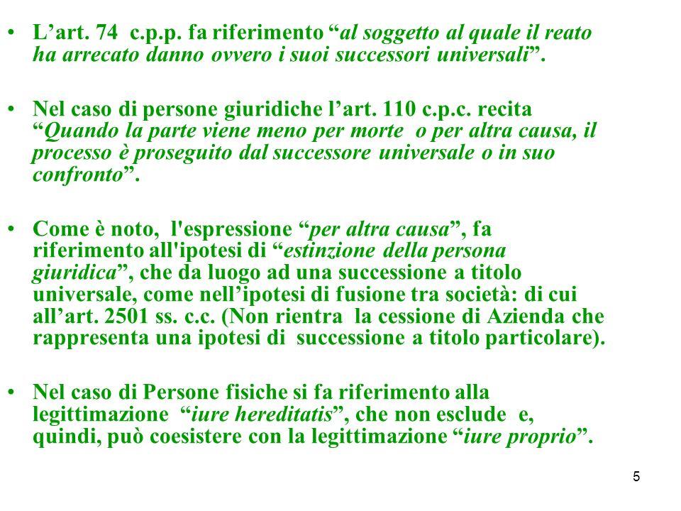 5 Lart. 74 c.p.p.
