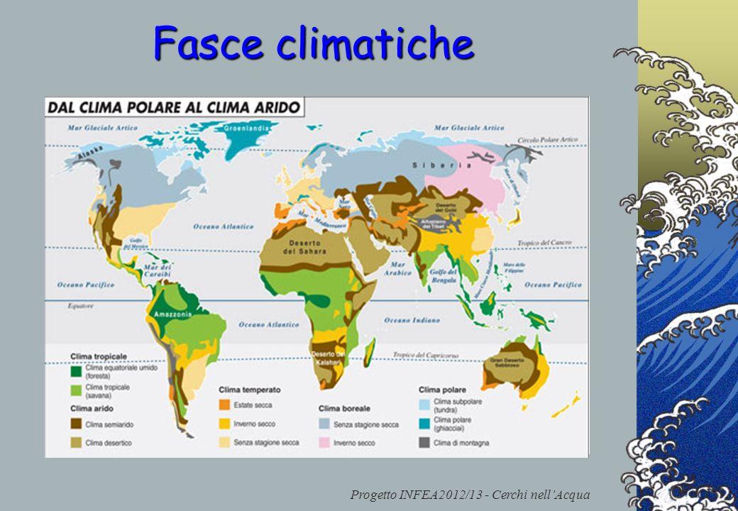 Progetto INFEA2012/13 - Cerchi nellAcqua Una fascia climatica è una porzione di territorio, generalmente estesa in senso latitudinale, che presenta ca