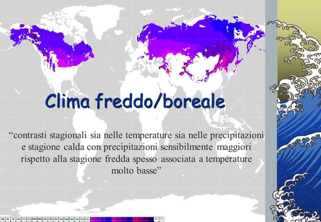 Progetto INFEA2012/13 - Cerchi nellAcqua Clima freddo/boreale contrasti stagionali sia nelle temperature sia nelle precipitazioni e stagione calda con