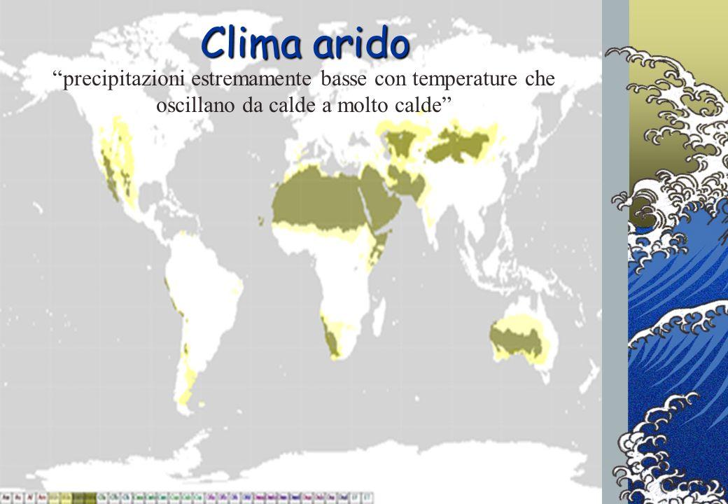 Progetto INFEA2012/13 - Cerchi nellAcqua Clima arido precipitazioni estremamente basse con temperature che oscillano da calde a molto calde