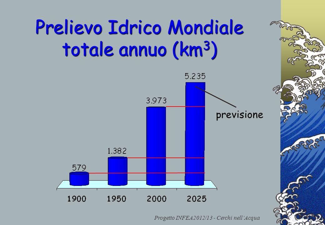 Progetto INFEA2012/13 - Cerchi nellAcqua Prelievo Idrico Mondiale totale annuo (km 3 ) previsione