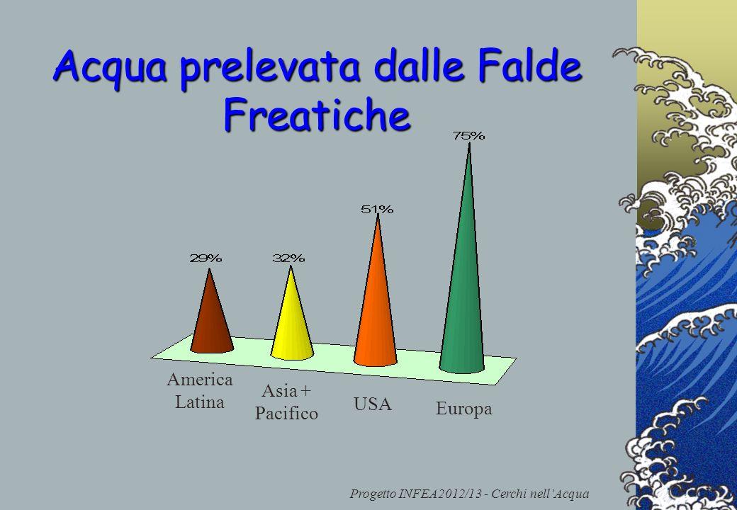 Progetto INFEA2012/13 - Cerchi nellAcqua Acqua prelevata dalle Falde Freatiche America Latina Asia + Pacifico USA Europa