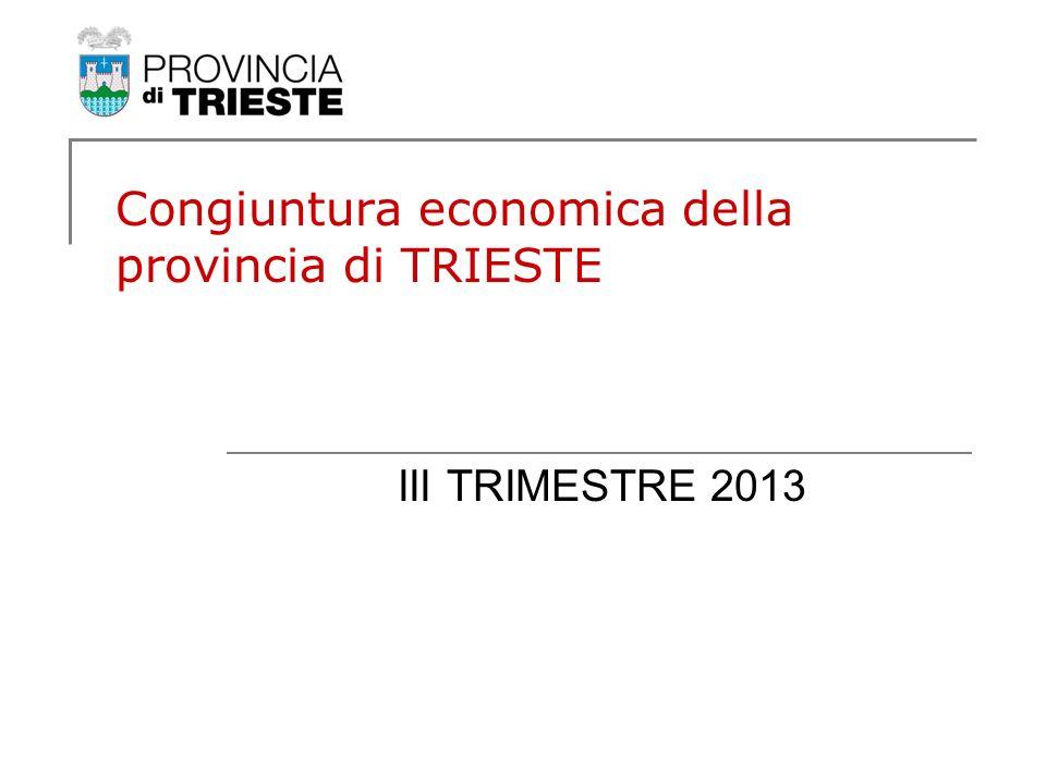 Congiuntura economica della provincia di TRIESTE III TRIMESTRE 2013