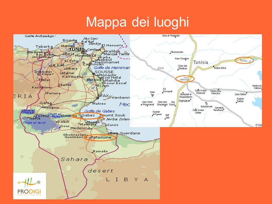 Prodigi – Projet Gabès-Kerchaou, Aout 2003 Mappa dei luoghi