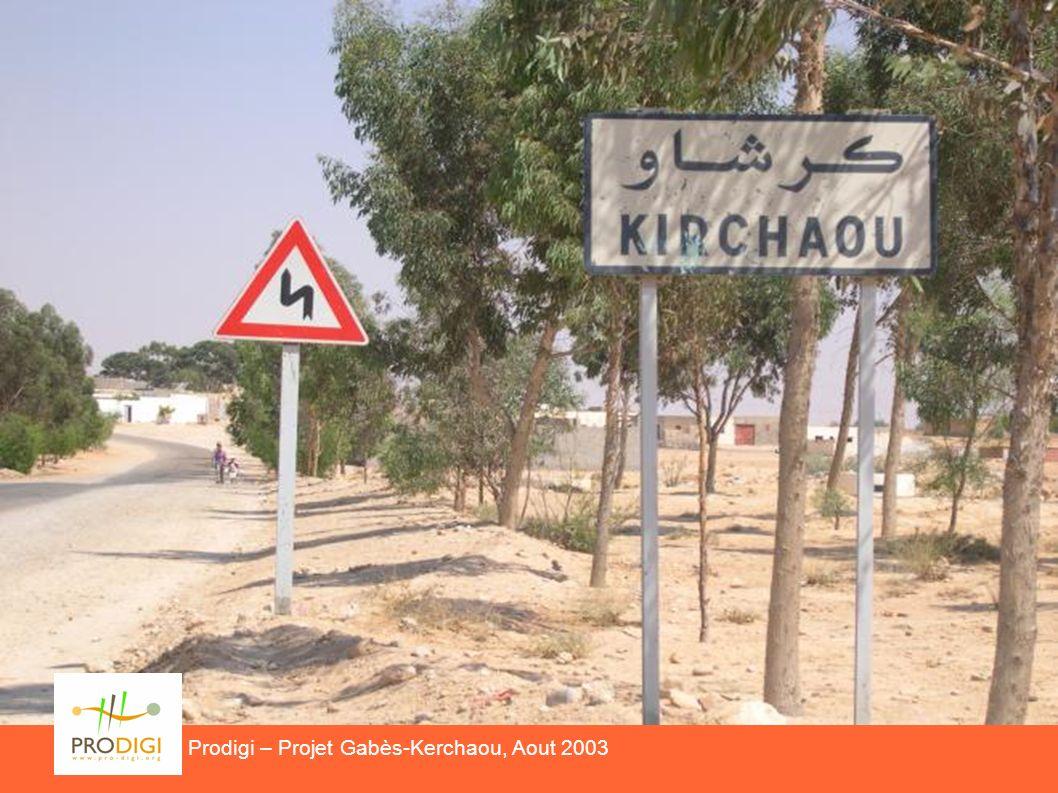 Prodigi – Projet Gabès-Kirchaou, Aout 2003