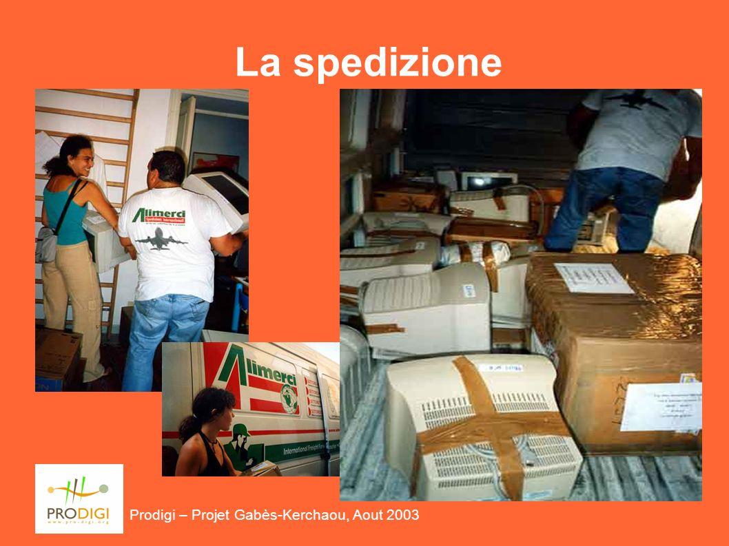 Prodigi – Projet Gabès-Kerchaou, Aout 2003 La spedizione