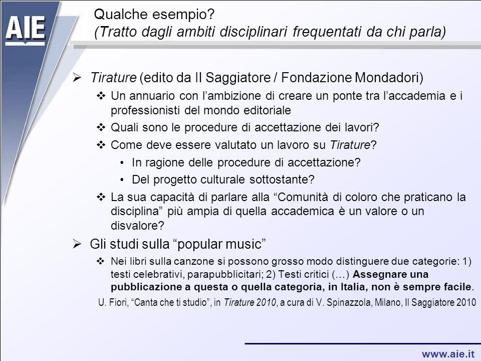 www.aie.it Qualche esempio.