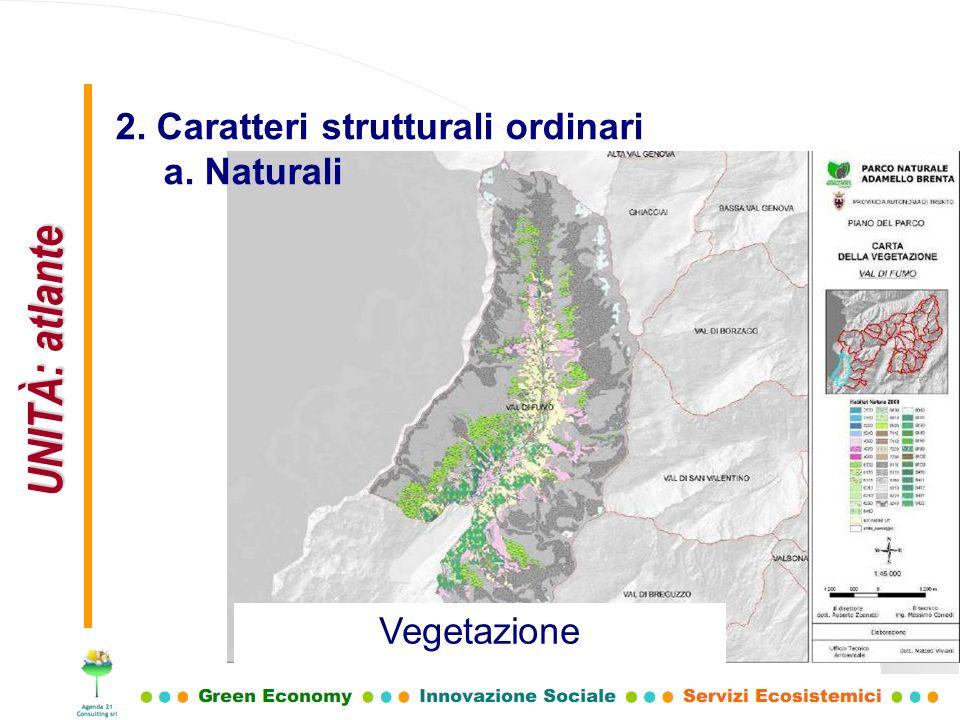 UNITÀ: atlante 2. Caratteri strutturali ordinari a. Naturali Vegetazione