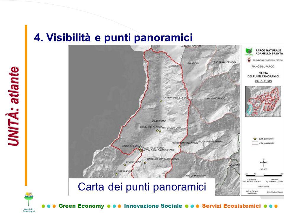 UNITÀ: atlante 4. Visibilità e punti panoramici Carta dei punti panoramici